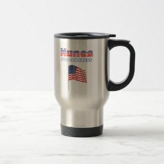 Nunes for Congress Patriotic American Flag Design Travel Mug