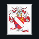 """Nunez Family Crest Canvas Print<br><div class=""""desc"""">Nunez Coat of Arms</div>"""