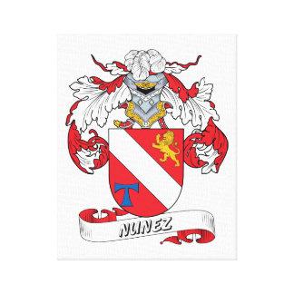 Nunez Family Crest Canvas Print