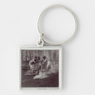 Nunhltstistlahl Qagyval' Silver-Colored Square Keychain