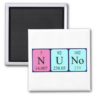 Nuno periodic table name magnet