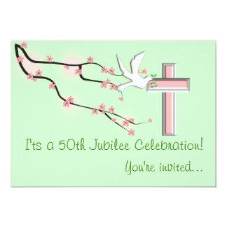Nuns 50th Jubilee Celebration Invitations Green