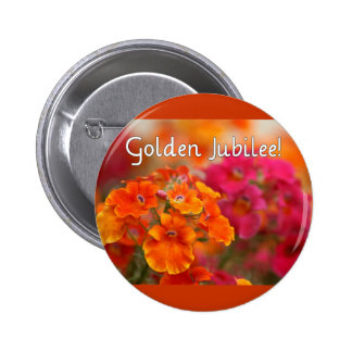Nuns 50th Jubilee--Floral Design Gifts Pinback Button