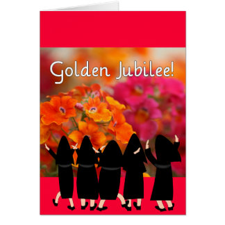 Nuns 50th Jubilee--Floral Design Gifts Greeting Cards