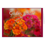 Nuns 50th Jubilee--Floral Design Gifts Greeting Card