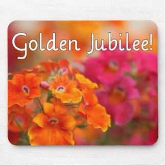 Nuns 50th Jubilee--Floral Design Gifts Mouse Pad