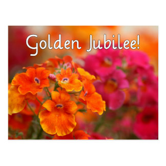 Nuns 50th Jubilee--Floral Design Gifts Postcard