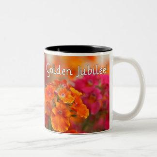 Nuns 50th Jubilee--Floral Design Gifts Two-Tone Coffee Mug