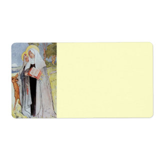 Nuns and a Deer Shipping Label