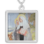 Nuns and a Deer Personalized Necklace