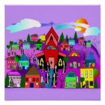 "Nuns Art Poster ""Heading to Church"" Whimsical"