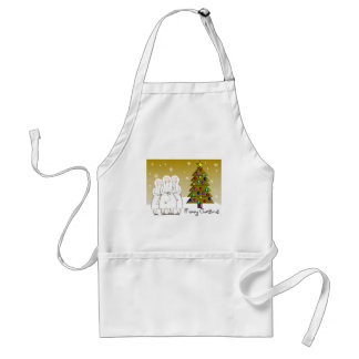 Nuns Christmas Cards and Gifts-Artsy Design Adult Apron