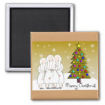 Nuns Christmas Cards and Gifts-Artsy Design Fridge Magnets