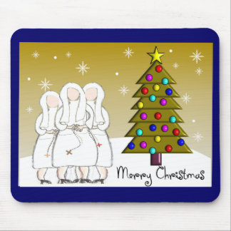 Nuns Christmas Cards and Gifts-Artsy Design Mouse Pad