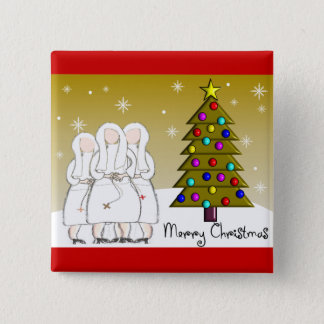 Nuns Christmas Cards and Gifts-Artsy Design Pinback Button