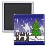 "Nuns Christmas Cards ""Merry Christmas"" Magnet"