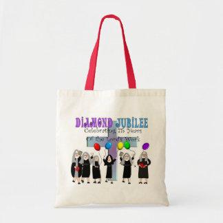 Nuns Diamond 75th Jubilee Gifts Budget Tote Bag