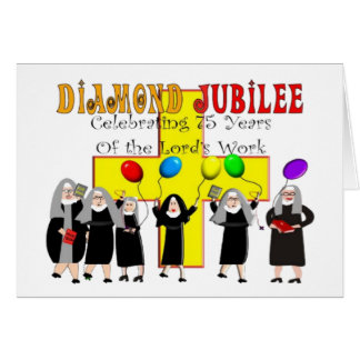 Nuns Diamond Jubilee 75th Year of Service Cards