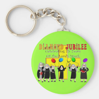 Nuns Diamond Jubilee 75th Year of Service Keychains