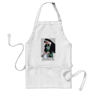 NUNS DO DISHES TOO ADULT APRON