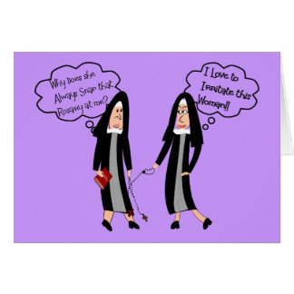 "Nuns ""Extreme Irritation"" Gifts Greeting Cards"