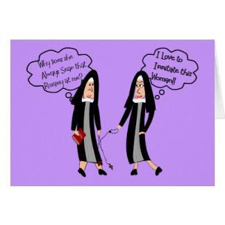 "Nuns ""Extreme Irritation"" Gifts Greeting Card"