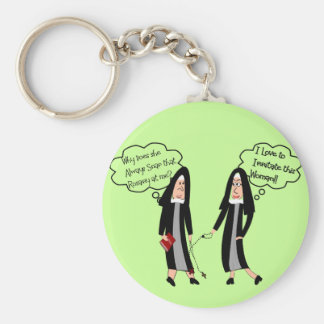 "Nuns ""Extreme Irritation"" Gifts Keychain"