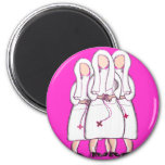 """Nuns Gifts """"Three Cloistered Sisters"""" Design Magnets"""