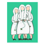 "Nuns Gifts ""Three Cloistered Sisters"" Design Postcard"