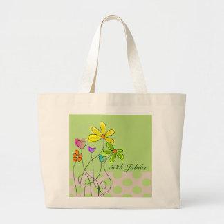 Nuns Golden 50th Jubilee Spring Floral Large Tote Bag
