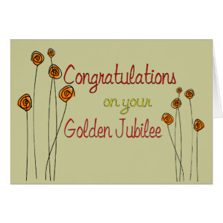 Nuns Golden Jubilee (50th Anniversary) Gifts Card