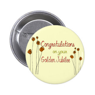 Nuns Golden Jubilee (50th Anniversary) Gifts Pinback Button