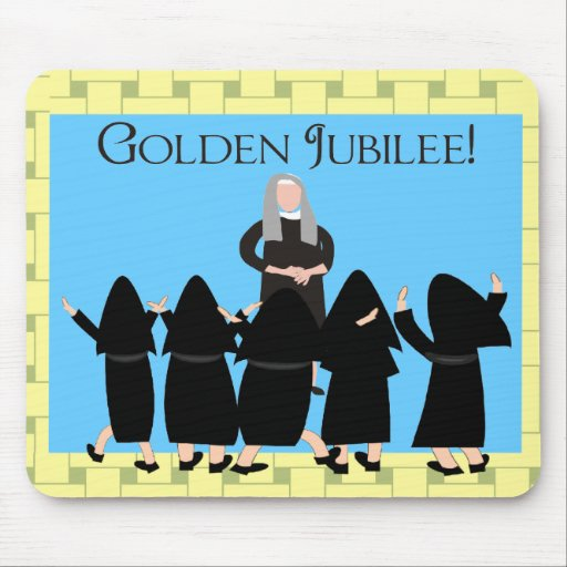 """Nuns """"Golden Jubilee"""" Cards & Tote Bags Mouse Pad"""