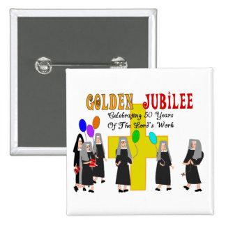 Nuns Golden Jubilee Gifts Button