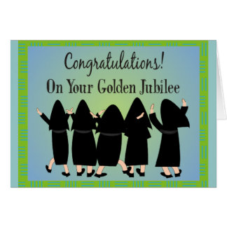 Nuns Golden Jubilee Gifts Card