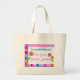 Nuns Golden Jubilee Gifts Large Tote Bag