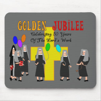 Nuns Golden Jubilee Gifts Mouse Pads