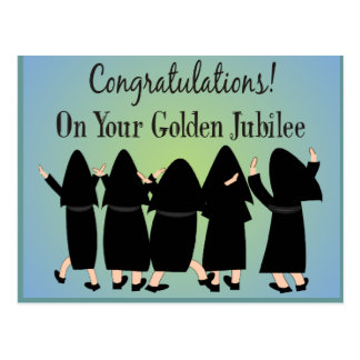 Nuns Golden Jubilee Gifts Postcard