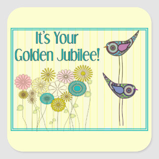 Nuns Golden Jubilee Gifts Square Sticker