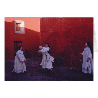 nuns having fun! greeting card