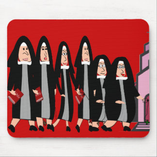 "Nuns ""Heading to Church"" Mouse Pad"