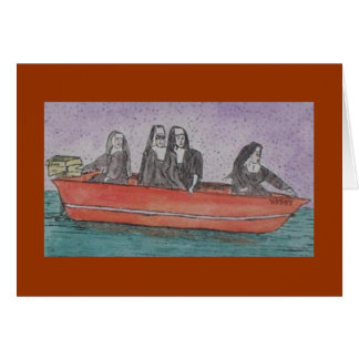 nuns in a boat cards