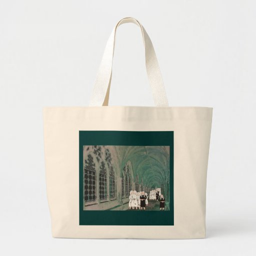 Nuns in the Westminster Abbey Cloister Jumbo Tote Bag