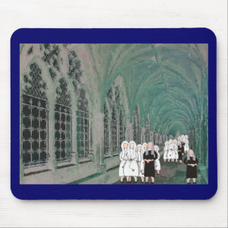 Nuns in the Westminster Abbey Cloister Mousepads