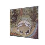 Nuns Meeting in Solitude Canvas Print