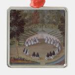 Nuns Meeting in Solitude Metal Ornament