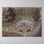 Nuns Meeting in Solitude Print