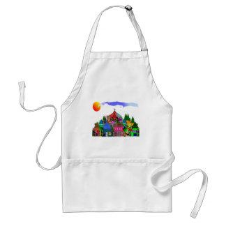 """Nuns of the Village""  Catholic Nun Art Gifts Adult Apron"