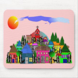 Nuns of the Village Catholic Nun Art Gifts Mouse Pad