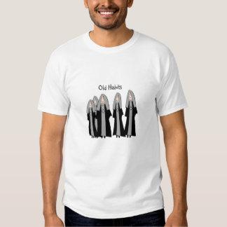 """Nuns """"Old Habits"""" Hilarious Nun Gifts Shirt"""